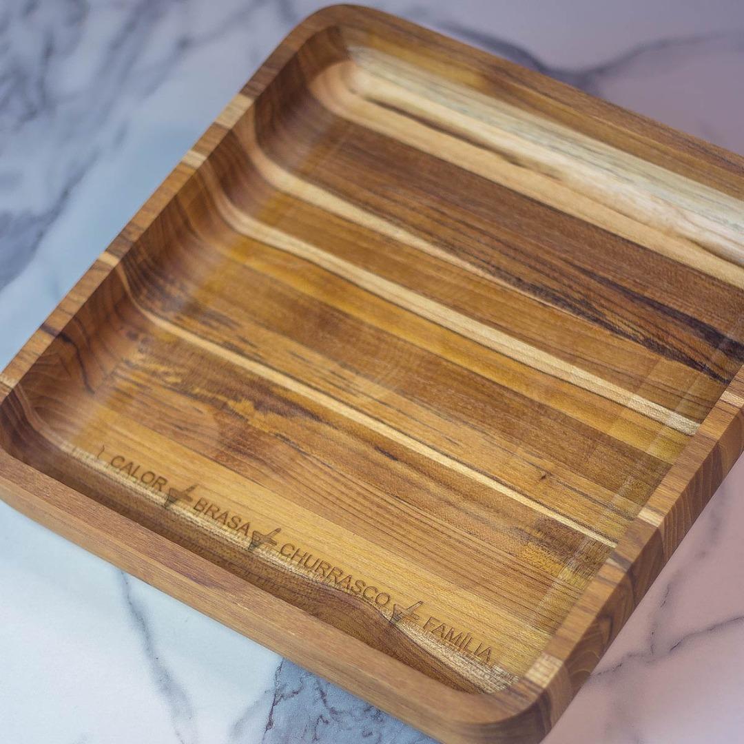 Imagem Gamela de madeira teca M personalizada