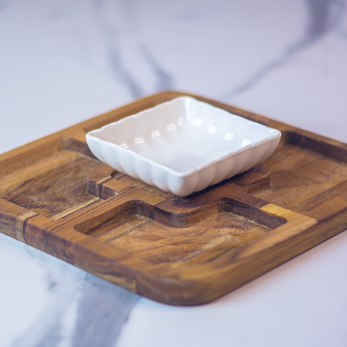 Imagem  Mini petisqueira com bowl de porcelana